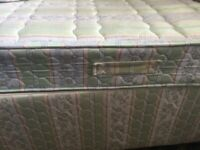 Small Double 4ft Bed with Kingsize Metal Headboard