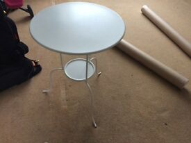 Small white Ikea table