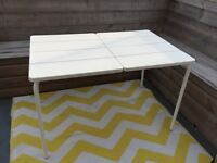 White indoor/outdoor Ikea table for sale