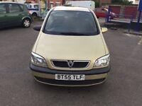 2005 Vauxhall Zafira1.6cc---10 months mot,ser/history,ac,cd,excellent runner,7 seater,central lock