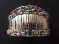 Hand made silver bangle