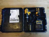 DeWalt XR 18v combi drill with case, charger and 2x 1.5Ah batteries.