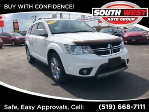 2012 Dodge Journey CREW, CHROME, LEATHER, ROOF.