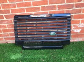 Land Rover Defender front grill and light surrounds in black from 2010 90