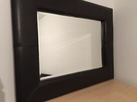 Mirror faux leather