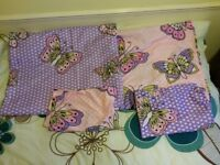 2 x Pretty Butterfly Single Duvet sets-Nearly new