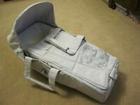 Carry Cot - Silver Cross Dazzle and rolling board attachment for stroller