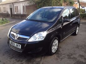 Vauxhall Zafira 1.6 petrol ,manual , reg (2008 not 2003 is private plate ) seven seater, Quick sale