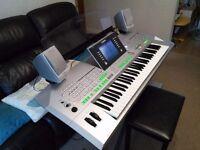 Yamaha Tyros 2 Keyboard + Stool + Speakers + Internal Hard Drive + Upgraded Memory + Manual