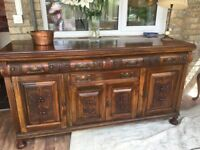 Sideboard Dresser Chiffonier Antique Carved Stunning has to be seen