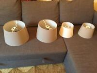 Assorted Ikea lampshades