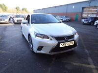 LEXUS CT 200h 1.8 Advance Plus 5dr CVT Auto (white/black) 2015
