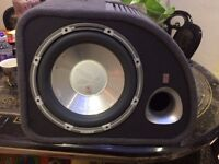"""FLI TRAP ACTIVE SUBWOOFER 12"""" 1200 WATTS WITH AMPLIFIER"""
