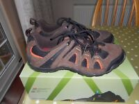 Unisex Brown Suede KARRIMOR Walking/Hiking Shoes Size UK3/EUR 36 VGC collect from Gosport Hampshire
