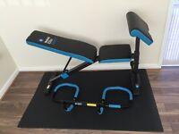 Men's Health Elite Active+: 1. Exercise bench, 2. Door trainer & Floor mat. First to view will buy!