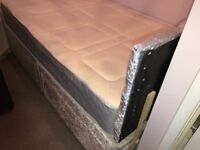 Small double crushed velvet bed