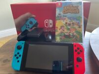 Nintendo Switch with Animal Crossing, Case and Original Box and Accessories