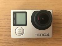 GoPro Hero 4 Silver + extra batteries & accessories