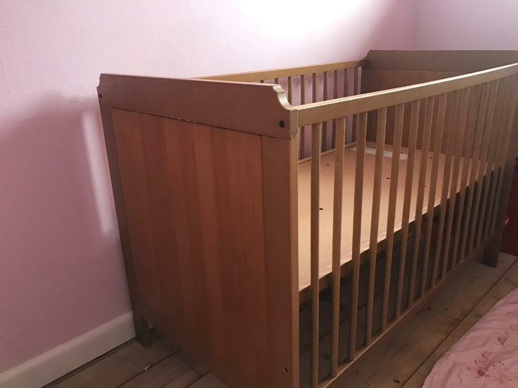Children's cot originally from ikea good condition