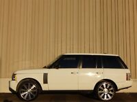 2008 Land Rover Range Rover HSE LUX IN WHITE-22 WHEELS