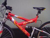 Apollo Unleashed adult mountain bike - dual suspension