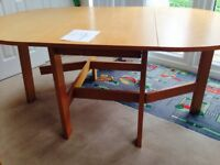Free Table and 2 Chairs (leg needs fixing) solid wooden