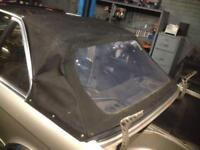Bmw e30 baur rear convertible rear hood roof