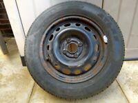 Vauxhall corsa wheel and tyre