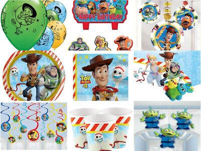 Toy Story 4 Party Geburtstag  Ballon Einladungen Tischdecke Gedeck Kerzen