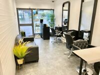 Hairdressers chair, nail table, treatment room for rent.