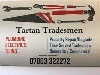 Tiling, Plumbing, Electrics in Lanarkshire, Glasgow, West Lothian, East Dunbartonshire, Falkirk etc