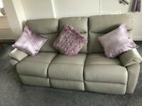 Grey, Real leather sofas