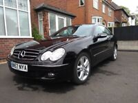 LOW MILEAGE MERCEDES CLK- FULL LEATHER, AUTO, FULL ELECRIC PACK, MOT 04/11/18
