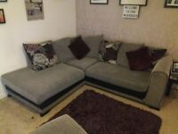 5 seater corner sofa with cuddle chair and footstool
