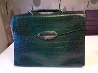 Furla Ladies Dark Green Leather briefcase
