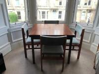 Mahogany Table (extendable) and 4 chairs
