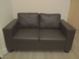 Leather sofas completely new (2p + 3p) and inclined sofa (1p)