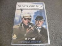 THE BAKER STREET DOZEN 6 DOUBLE DVD 12 FILM SHERLOCK HOLMES BOX SET STILL SEALED