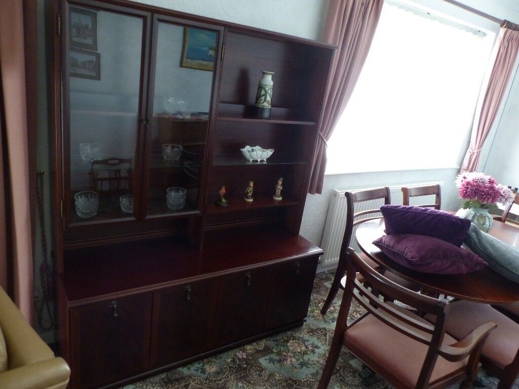 Mahogany sideboard\display cabinet\ wall unit for lounge ...