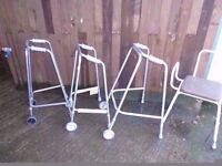 Selection of Walkers walk aids and Zimmer Frames Delivery Available