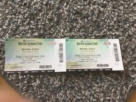 2 Tickets for Michael Buble plus Special Guests - British Summer Time Hyde Park Friday 13 July 2018