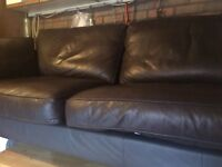 Three seater leather sofa Marks and Spencer excellent condition
