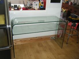 SIDEBOARD ALL THICK SAFETY GLASS WITH SHELF