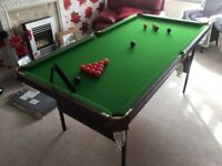 Pool Table/ Snooker Folding 6ft x 3 ft
