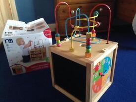 Solid wood children's activity centre