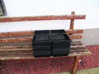 Forty plastic seed trays in good condition total sell at 50 pence a tray