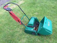 Suffolk Punch 12E 340W Electric Cylinder 30cm Lawnmower plus scarifier cartridge
