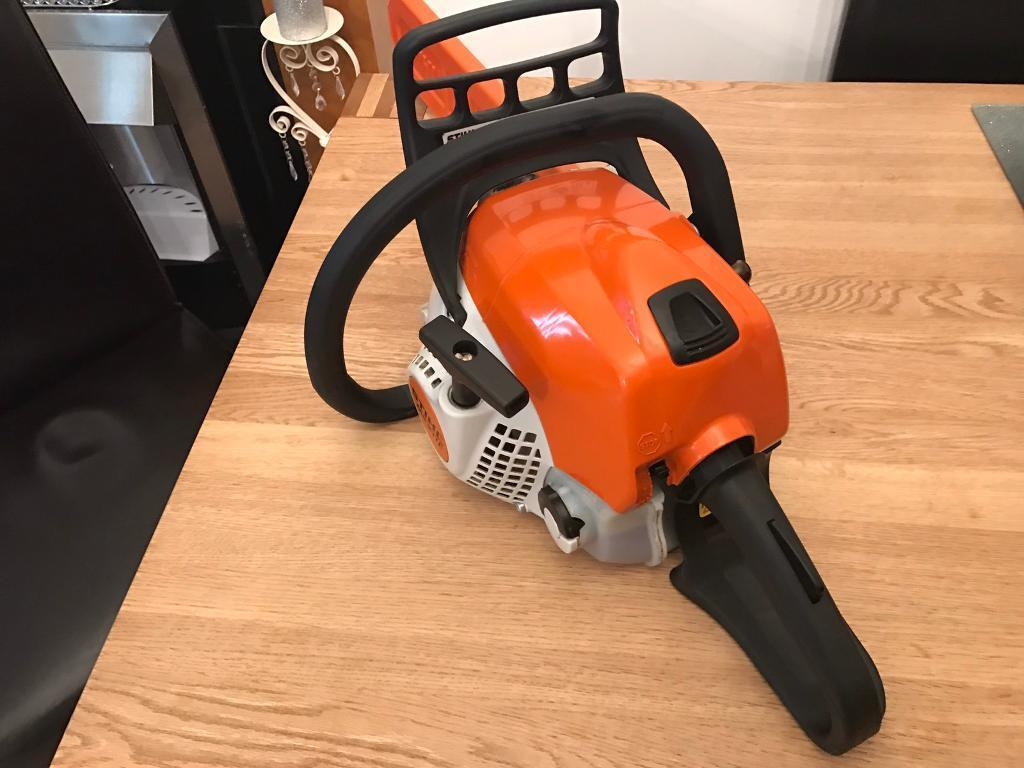 "stihl ms 211 c-be 16""inch bar mint condition 