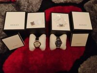 GUCCI his and hers watches brand new