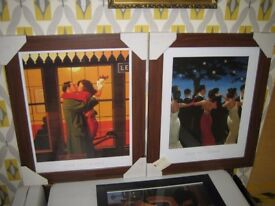 Jack Vettriano 2 Lovely New Framed Prints 40 x 50cm 'Back Where You Belong' and 'The Waltzers'